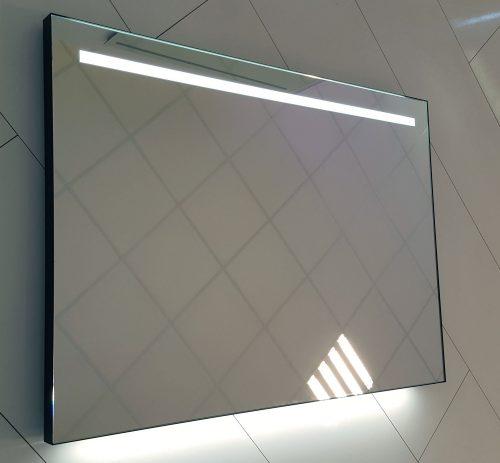 Badkamer spiegel met industrieel mat zwart frame