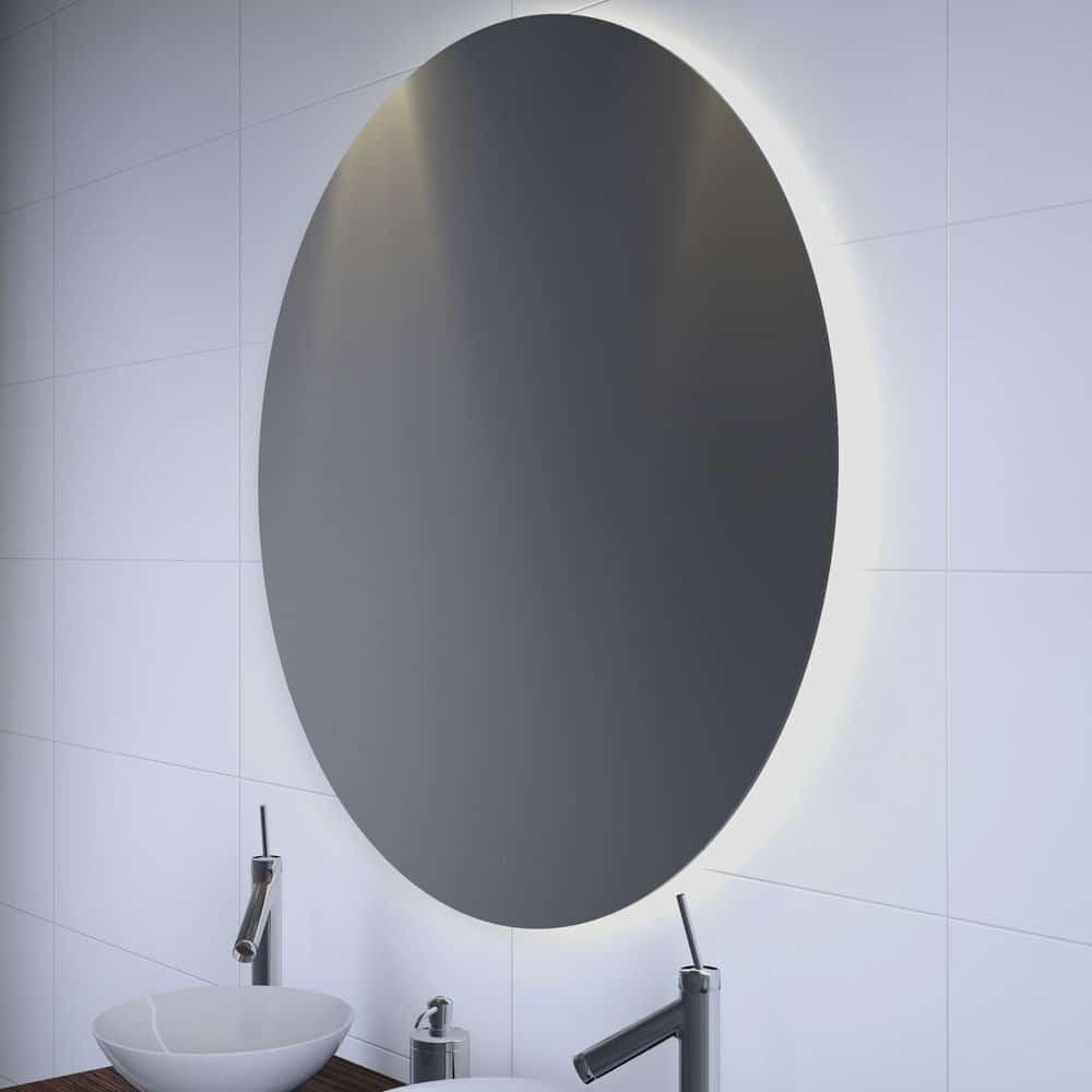 Geliefde Grote 100 cm ronde badkamer spiegel met indirecte verlichting ML08