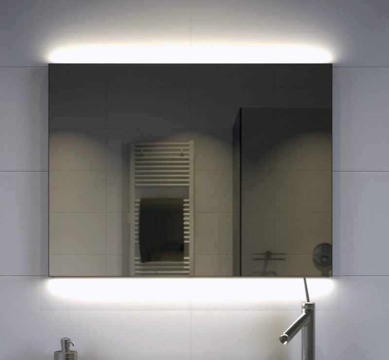Badkamer Spiegel Met Verwarming En Verlichting.Mat Zwarte Badkamer Spiegel Met Verlichting Verwarming En Dimfunctie 80x70 Cm