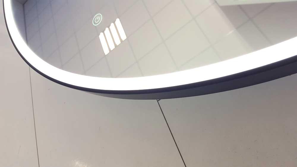 Zwarte Ronde Spiegel : Grote ronde spiegel met stijlvol mat zwart frame en