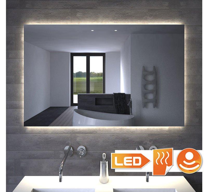 Badkamerspiegel Met Indirecte Verlichting Verwarming Touch Sensor En Dimfunctie 100x70 Cm Designspiegels