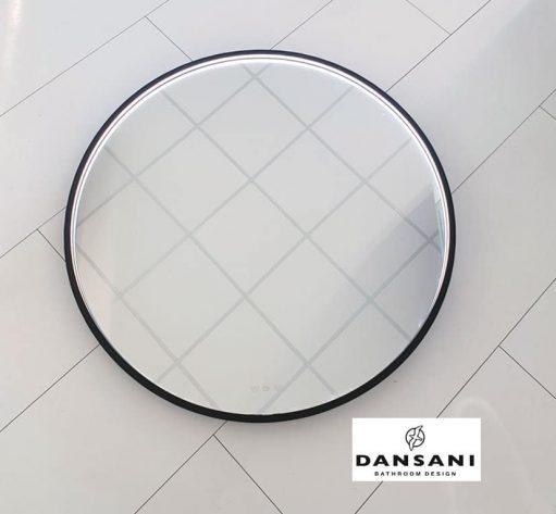 Fraaie, industriële Dansani LED spiegel met instelbare lichtkleur