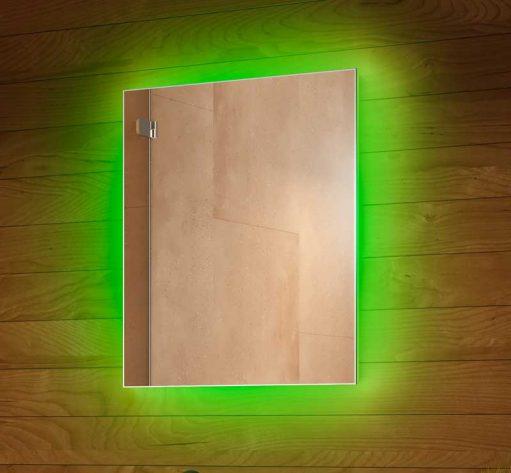 Fraaie RGB LED spiegel met spiegelverwarming