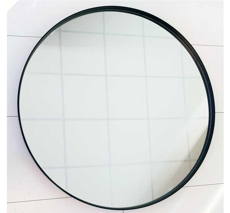 Grote Ronde Spiegel.Grote Mat Zwarte Ronde Badkamerspiegel Met Gepoedercoat Frame 120 Cm