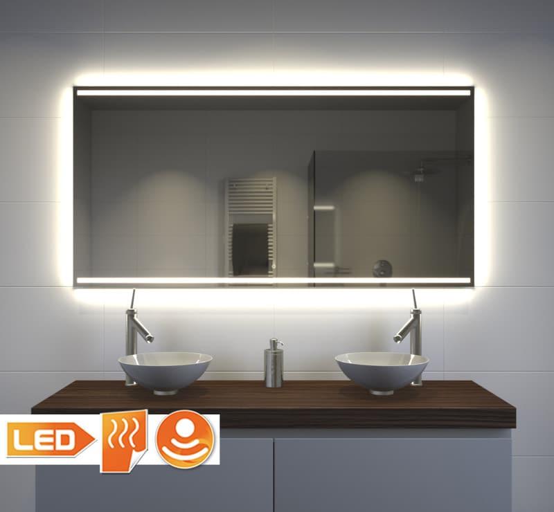 Badkamer Spiegel Met Verwarming En Verlichting.Badkamer Spiegel Met Design Verlichting Verwarming En Touch Sensor 120x70 Cm