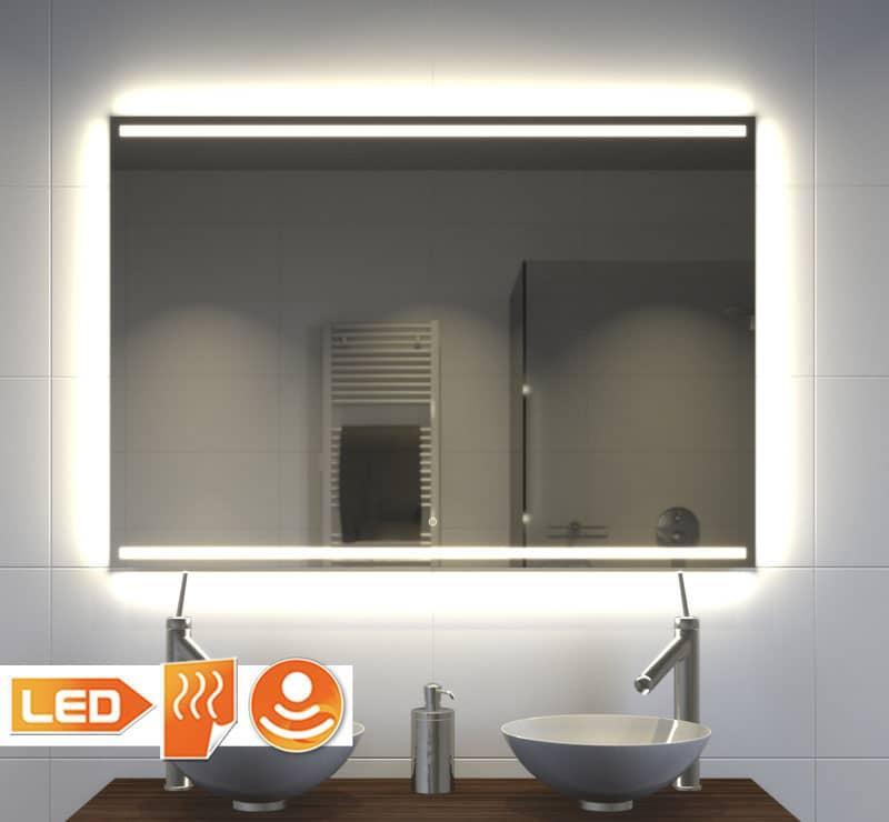 Badkamer Spiegel Met Verwarming En Verlichting.Stijlvolle Strakke Badkamer Spiegel Met Verlichting Verwarming En Touch Sensor 100x70 Cm