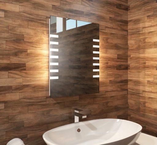Smalle LED spiegel, ideaal voor in het toilet!