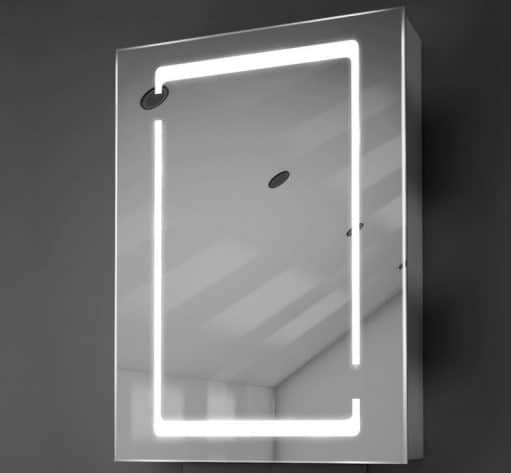 50 cm breed spiegelkastje met stijlvol lichtdesign