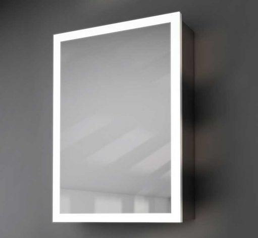 50 cm brede badkamer spiegelkast met designer verlichting, hoge lichtopbrengst!