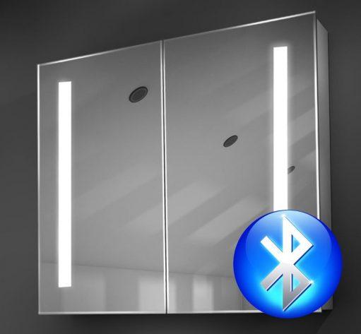 80 cm brede badkamer spiegelkast met praktische verlichting links en rechts