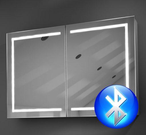 90 cm brede aluminium spiegelkast met hoge lichtopbrengst