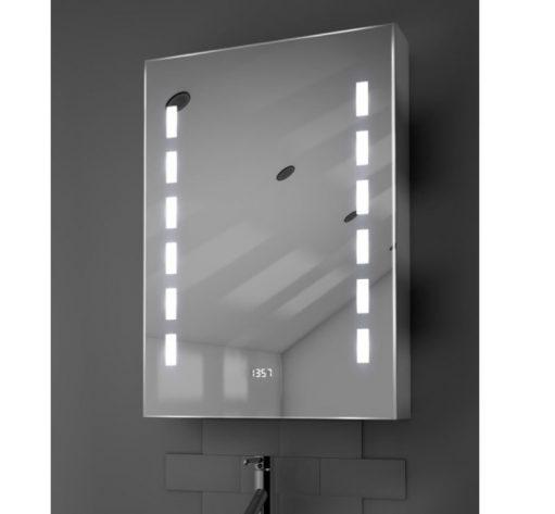 Badkamer spiegelkast met klok verlichting en verwarming