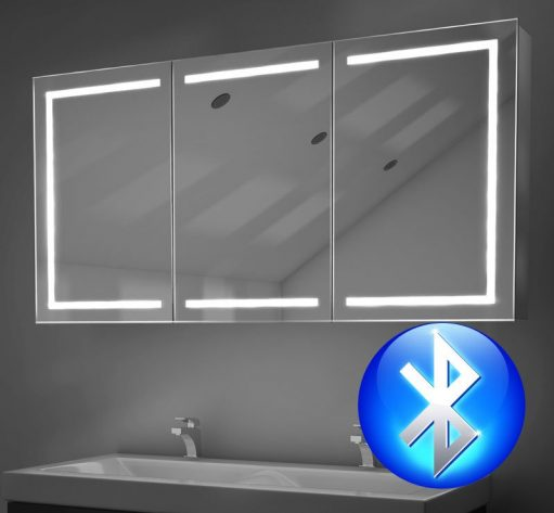 120 cm badkamer spiegelkast met hoge lichtopbrengst