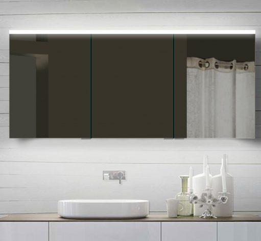 Grote brede aluminium badkamer spiegelkast