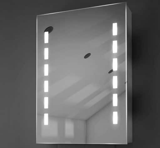 Aluminium spiegelkast met designer verlichting