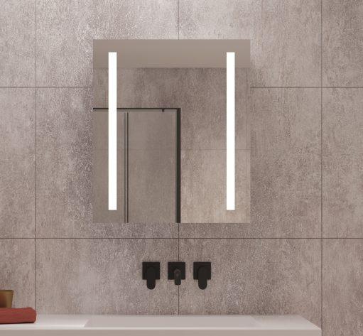 Praktische badkamerspiegelkast met verlichting en handige spiegelverwarming