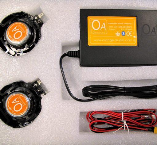 Orange Audio Bluetooth muzieksysteem met 2 speakers