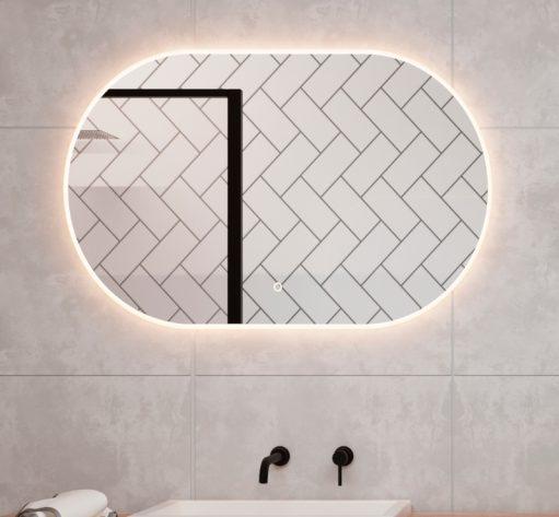 Trendy ovalen badkamer LED spiegel