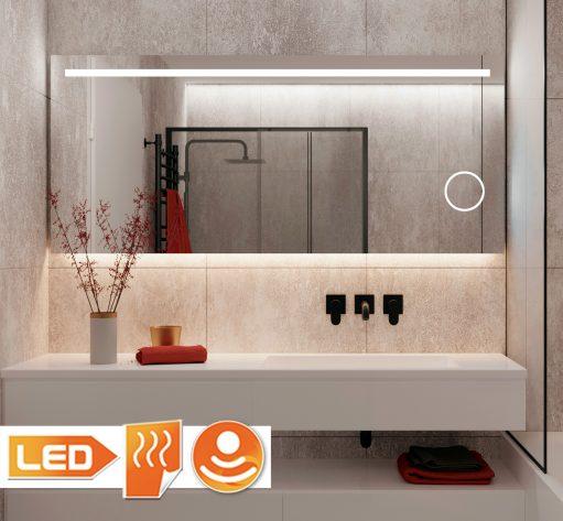 Stijlvolle badkamer LED spiegel met vergroting, ideaal bij het scheren of make-uppen!